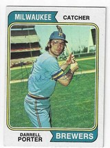 Darrell Porter Signed 1974 Topps Card / Autographed - $22.30