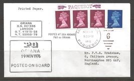 1976 Paquebot Cover, British stamps used in Miami, Florida (Nov 19) - $5.00