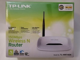 TP-Link Wireless N Router Model TL-WR740N IP 150 Mbps 2.4GHz WiFi Easy Setup NEW - $26.11