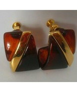 Vintage Signed Napier Gold-tone Screw-back/Clip-on Earrings  - $34.65