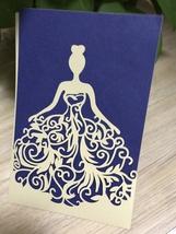 Bride Laser cut Wedding Invitation,50pcs Pocket Engagement Invitation Cards - $53.20