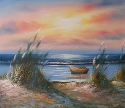 Red Sky Sunset 20 x 24 original oil painting on canvas - $79.19
