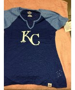 MAJESTIC  KANSAS CITY ROYALS  WOMENS PULLOVER TOP  SIZE S-- --FREE SHIP-... - $22.34
