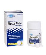 Immediate Acting Mucus relief, Expectorant, 400 mg Guaifenesin, 15 tablets - $5.99