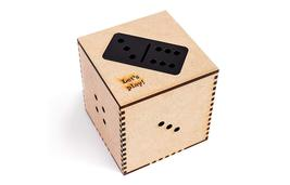 Classic Black Giant Sized Domino Tile Set and Numbers Table Game 28 Piec... - $39.00