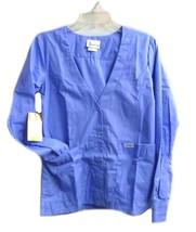 Spectrum Uniforms Ceil Blue Cardigan Warm Up V Neck 3XL Women's 416 New - $20.34
