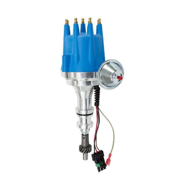 Pro Series R2R Distributor for Ford 351W Windsor, V8 Engine Blue Cap