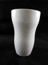 Starbucks 2015 Insulated Porcelain Travel Mug White with Gray design - $14.84