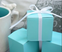 10 Robin Egg Blue Mint Aqua Blue Wedding Favor Gift Boxes Baby Shower Tu... - $9.81