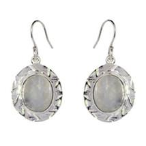 Rainbow Moonstone Women Wedding Earring 925 Sterling Silver Jewelry - $17.43