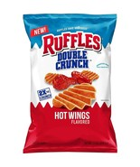 Ruffles Ridged Double Crunch Potato Chips, Hot Wing, 7.75oz bag (Pack of 3) - $28.70
