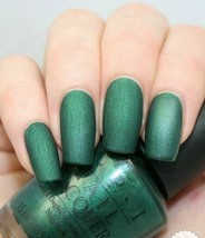 OPI ARAGON TODAY ARAGON TOMORROW SUEDE Green Nail Polish Lacquer .5oz E4... - $37.60
