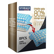 Storage Master Space Saver Bags, Vacuum Storage Bags for Travel & Home 8 Jumbo
