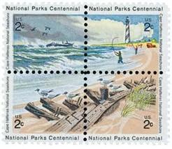 1972 2c Cape Hatteras Block of 4 US Postage Stamps Catalog Number 1448-51 MNH