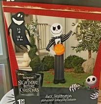 NBC Jack Skellington Pumpkin King 3' ft Halloween Inflatable Lawn Decora... - $69.30