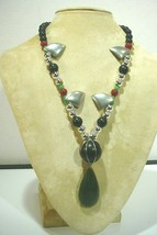 Vintage Signed Alexis Kirk Funky Beaded Necklace - $54.43