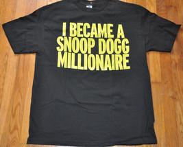 I became a Snoop Dogg Millionaire T Shirt Mens Hip Hop Rap size XL NWOT NEW - $6.29