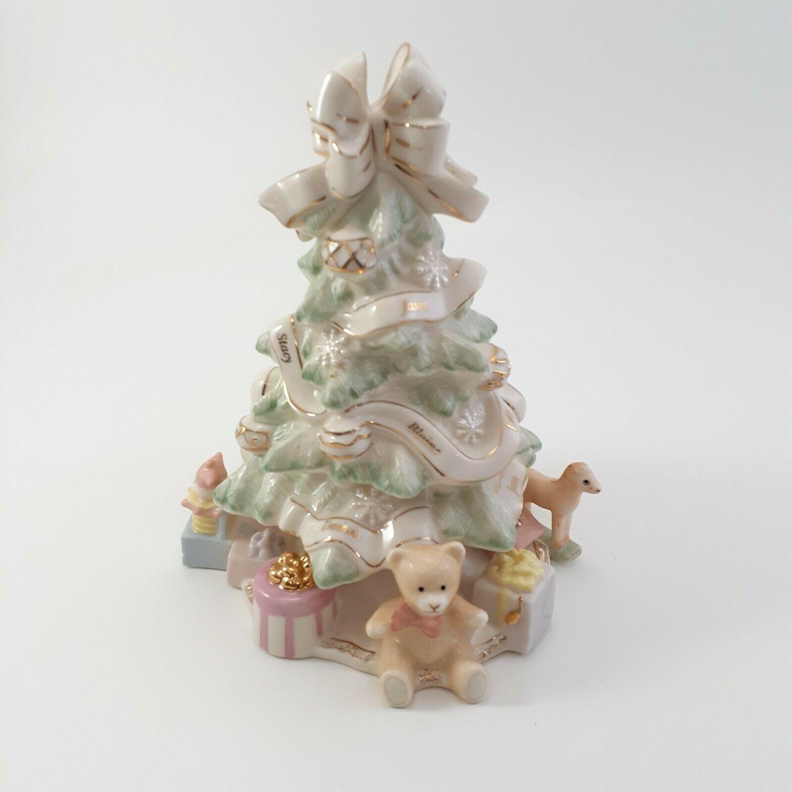 Lenox Holiday Traditions Christmas Tree Centerpiece Figurine Pastel
