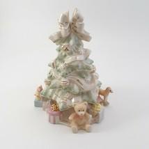 Lenox Holiday Traditions Christmas Tree Centerpiece Figurine Pastel image 1