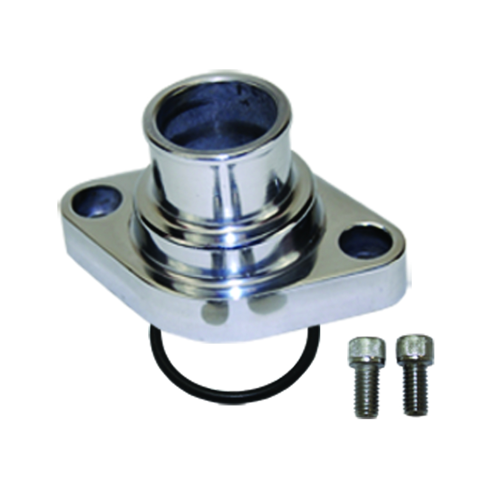 A-Team Performance Water Neck Thermostat Housing Straight Up Style Polished Comp