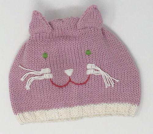 Primary image for Blabla Kids Girls Knitted Pink Cat Hat Size Medium 6-12 Months NEW