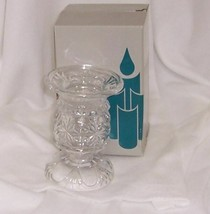PartyLite Salzburg Candle Holder 24% Lead Crystal Cut Glass P7087 Versat... - $14.80