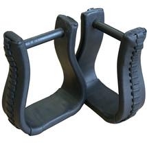 Hilason Western Saddle Bell Oil Leather Horse Saddle Stirrups Neck 3 In U-03BK - $39.55