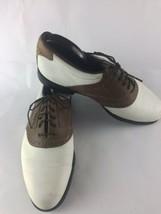 Vtg FootJoys DryJoys Men's Size 9.5 Golf Shoes 53548 Brown/White - $24.74