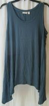 LOGO Layers By Lori Goldstein Women's Blue Gray Tunic Tank Top Shirt Siz... - $25.69