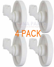 4 Pack New 775043 Dishwasher Lower Rack Wheel & Clip Fits Frigidaire Kenmore - $13.79