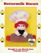 Dumplin Designs Buttermilk Biscuit Crochet Pattern From Cupcake Corner UP1 1985 - $4.84