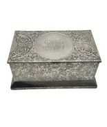 Antique Cross Art Nouveau Sterling Silver on  Bronze Box Humidor Casket 1910 U23 - $210.38