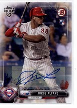 2017 Bowman Holiday Autographs Turkey #TH-JA Jorge Alfaro NM-MT (Autographed) /3 - $25.00