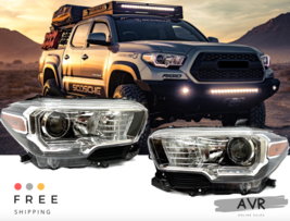 Fit For Toyota Tacoma 16 17 18 Headlights Black with Running LED Set RH LH - $385.06