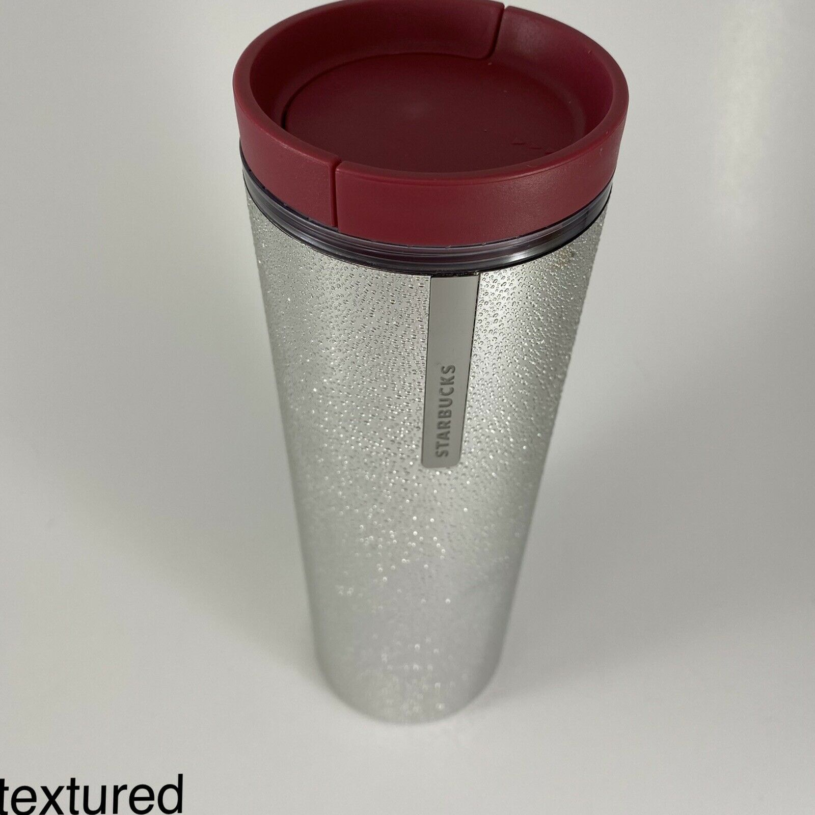 Primary image for Starbucks Textured Beaded Tumbler Silver 16 fl oz Bubbles - Crosby Holiday