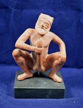 Satyr sitting sculpture ancient Greek mythic creature ceramic statue - $64.99