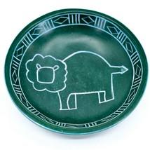Tabaka Chigware Hand Carved Kisii Soapstone Green Lion Trinket Bowl Dish Kenya image 1