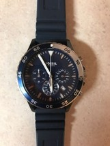 Fossil Authentic Watch Men's CH3054 Crewmaster Blue Silicone 46mm Chrono - $87.07