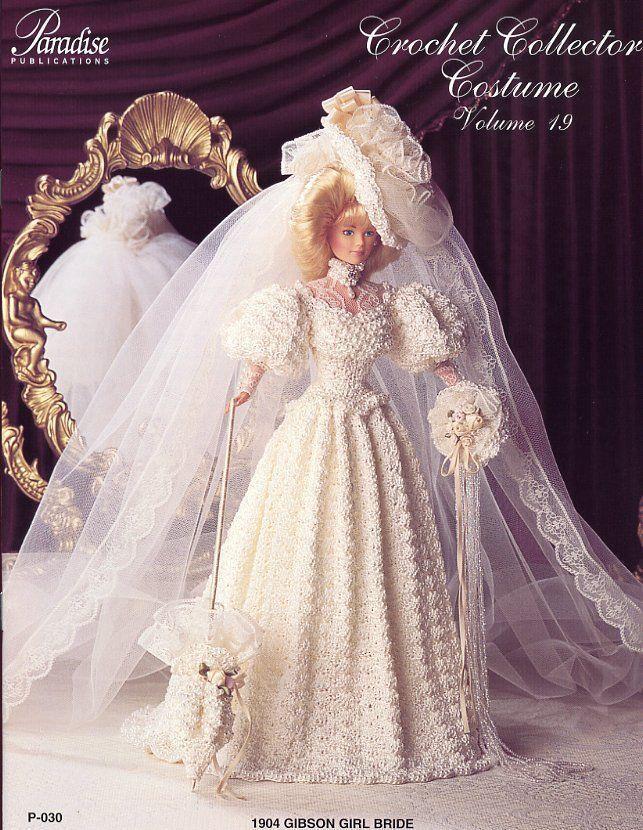 1904 Gibson Girl Bride Paradise #19 Barbie Crochet PATTERN LEAFLET (NO DOLL) - $3.57
