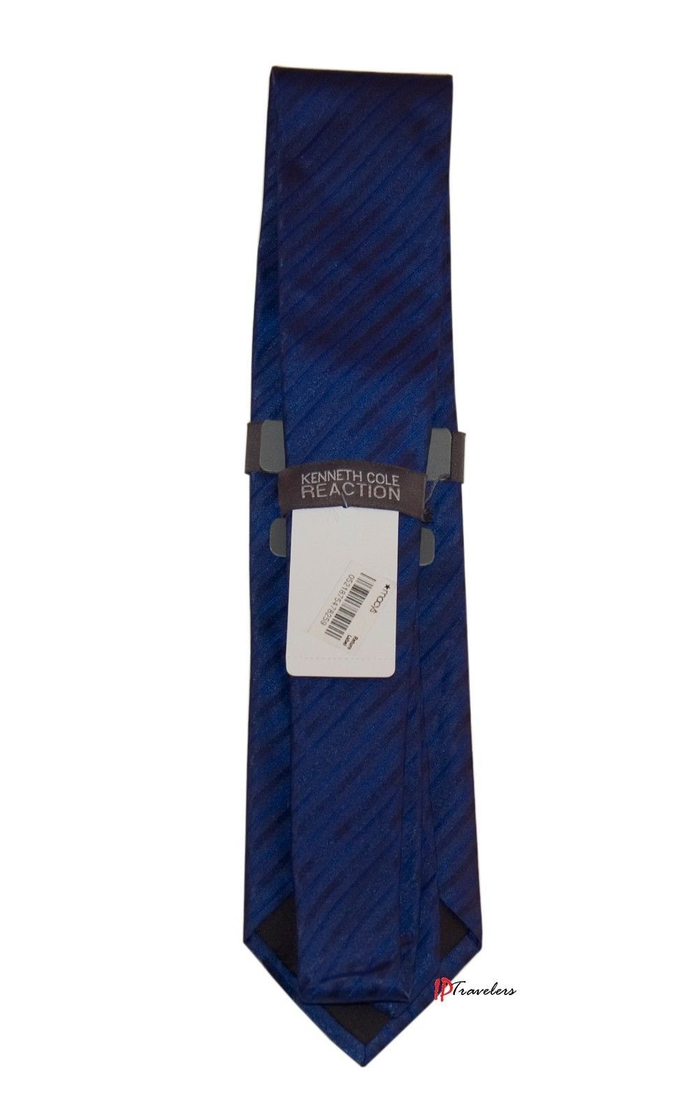 Kenneth Cole Reaction Men's Neck Tie Blue Airmont Stripe 100% Silk $55