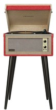CROSLEY CR6233D-RE Dansette Bermuda Deluxe Bluetooth Turntable Red Record Player - $219.95