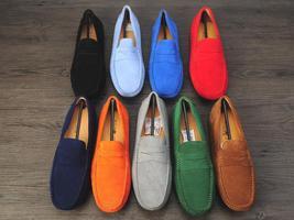 Hot Leather Loafers Fashion Plus Genuine Men Men Leather Autum Size Shoes Nubuck BgRBwFq