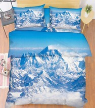3D Snow Mountain Bed Pillowcases Quilt Duvet Cover Set Single Queen King... - $64.32+