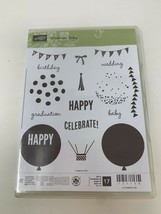 Stampin' Up Celebrate Today Birthday Celebrate Photopolymer Stamp Set of... - $17.81