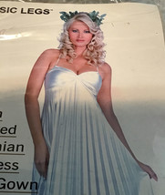 BB Adult Athenian Goddess Satin Pleated Long Gown Halloween Costume Size... - $8.90