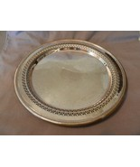 Vintage International Silver Co. Round Serving Platter Lattice & Scroll (M) - $55.69