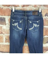 Maurices Womens Boot Cut Jeans Size 3/4 Juniors 31 Inseam Embroidered #492 - $17.81