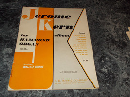 Jerome Kern Album for Hammond Organ, Preset & Spinet Models Sheet Music - $4.99