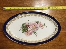Blue & Gold Floral Limoges Serving Platter - $23.38