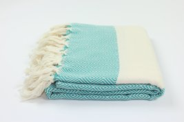 Authentic Turkish Diamond Fouta Cotton Towel Peshtemal Made In Turkey 100% Turki - $14.25